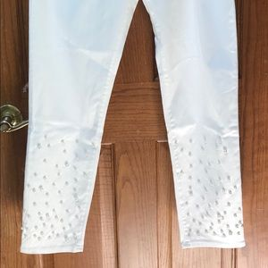 Lilly Pulitzer Worth Skinny Jean Pearl Embellished